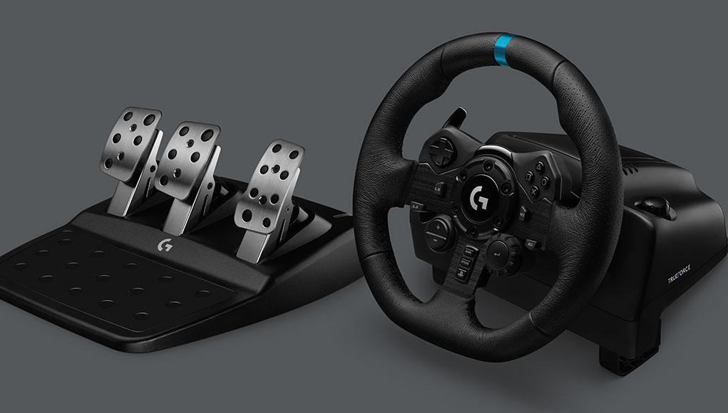 Logitech G, PC ve PlayStation İçin Tasarlanan G923 Direksiyonu Tanıttı