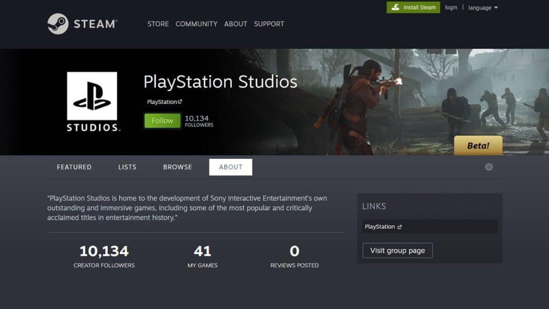PlayStation stüdyosunun küratör sayfası resmi olarak Steam'de açıldı